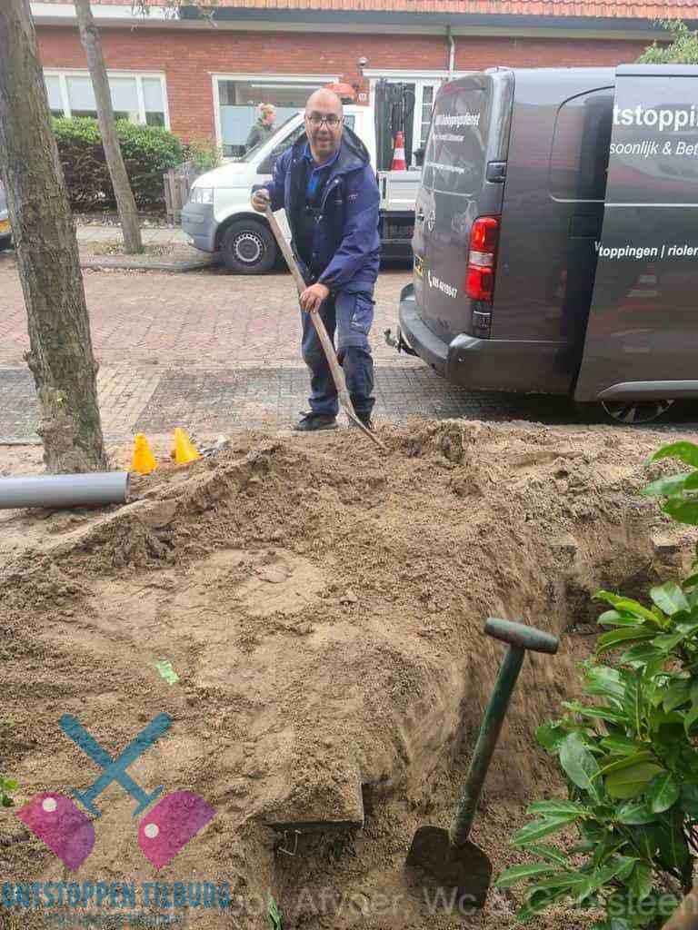 Riool ontstoppen Tilburg graven